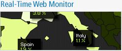 Suivez l'activité du Web mondial en temps réel