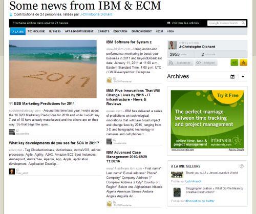 IBM ECM sur Paper.li