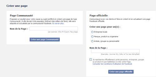 comment créer une page pro sur Facebook