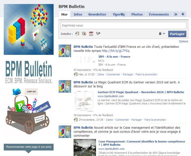 page pro facebook BPM ECM IBM