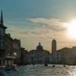 Vue de Venise à la tombée du jour