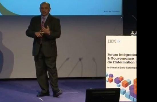 présentation d'Arvind Krishna lors du Forum Intégration et Gouvernance de l'Information